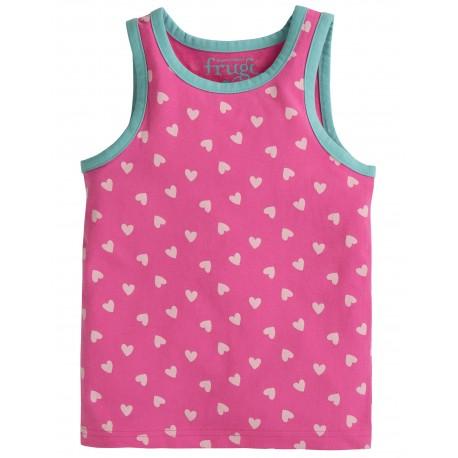 """Chemisette """"Voyager Vest, Flamingo Hearts"""" - coton bio"""