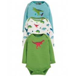 "Assortiment de 3 bodys ""Super Special 3 Pack Body, Dino Multipack"" - coton bio"