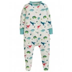 "Pyjama bébé ""Lovely Babygrow, Aqua Dino Field"" - coton bio"