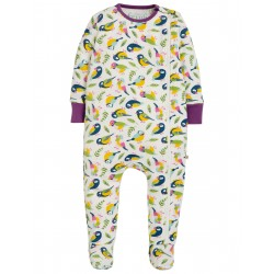 "Pyjama bébé ""Zipped Babygrow, Soft White Tweet"" - coton bio"