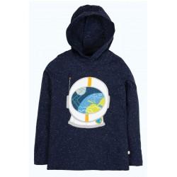 "T-shirt ""Jaco Hoody, Space Blue Nepp, Astronaut"" - coton bio"