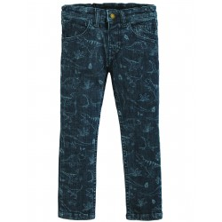 "Pantalon ""Jordan Printed Jeans, Denim Dino"" - coton bio"