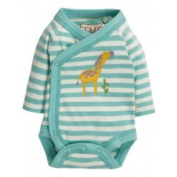 "Body ""Cuddly Kimono Body, Topaz Stripe / Giraffe"" - coton bio"