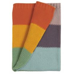 "Couverture ""Cuddle Up Blanket, Soft Rainbow"" - coton bio"