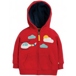 "Sweat ""Hayle Hoody, Tango Red / Helicopter"" - coton bio"