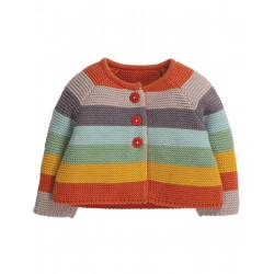 "Gilet bébé ""Cute As A Button Cardigan, Soft Rainbow"" - coton bio"