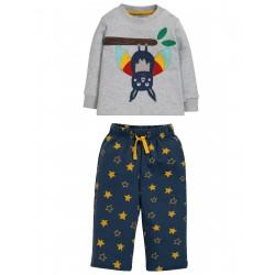 "Pyjama ""Lou PJs, Grey Marl / Bat"" - coton bio"