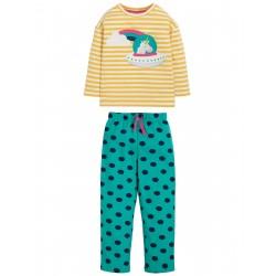 "Pyjama ""Leonie PJs, Bumble Bee Stripe / Unicorn"" - coton bio"