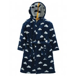 "Peignoir enfant ""Toasty Towelling Robe, Space Blue Cloud"" - coton bio"