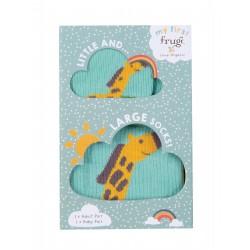 """Assortiment de 2 chaussettes matching """"Little & Large Socks, Giraffe Multipack"""" - coton bio"""
