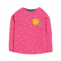 "T-shirt ""Bethany Boxy Top, Flamingo Spot / Star"" - coton bio"