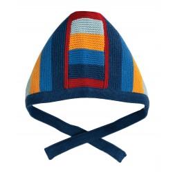 "Bonnet ""Bertie Knitted Bonnet, Jolly Stripe"" - coton bio"