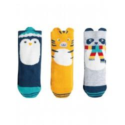 "Coffret assortiment de chaussettes ""Paw-some Socks In a Box, Cosy Creatures Multipack"" - coton bio"