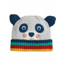 "Bonnet ""Friendly Face Knitted Hat, Panda"" - coton bio"