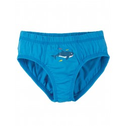 "Caleçon ""Barney Printed Briefs, Motosu Blue / Shark"" - coton bio"