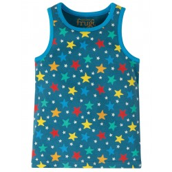 "Chemisette ""Voyager Vest, Steely Blue Multi Star"" - coton bio"