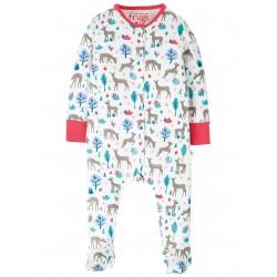 "Pyjama bébé ""Lovely Babygrow, Watermelon Sika Deer Ditsy"" - coton bio"