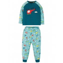 "Pyjama ""Stargaze PJs, Steely Blue / Helicopter"" - coton bio"