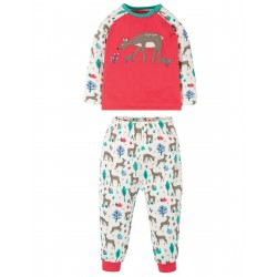 "Pyjama ""Stargaze PJs, Watermelon / Deer"" - coton bio"