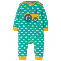 """Pyjama bébé """"Charlie Romper, Pacific Aqua / Tractor"""" - coton bio"""