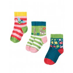 "Chaussettes bébé ""Little Socks 3 Pack, Deer Multipack"" - coton bio"