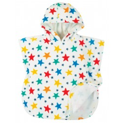 "Peignoir poncho ""Little Havana Hooded Towel, Multi Star"" - coton bio"