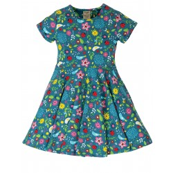 "Robe ""Spring Skater Dress, Garden Friends"" - coton bio"