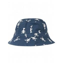 """Chapeau réversible """"Ross Reversible Hat, Indigo Lobster"""" - coton bio"""