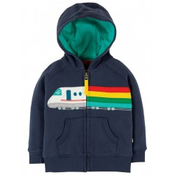 "Sweat bébé ""Hayle Hoody, Indigo / Train"" - coton bio"