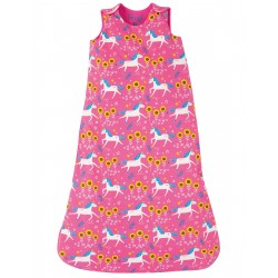 "Sac de couchage bébé ""Snuggler Sleeping Bag, Flamingo Unicorn Skates"" - coton bio"