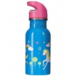 """Gourde """"Splish Splash Steel Bottle, Motosu Blue / Unicorn"""""""
