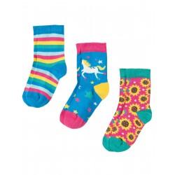 "Chaussettes ""Susie Socks 3 Pack, Unicorn Multipack"" - coton bio"