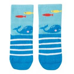 "Chaussettes ""Perfect Little Pair Socks, Bright Sky / Whale"" - coton bio"