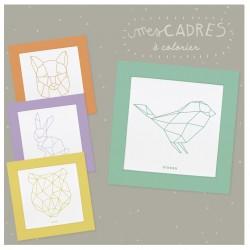 """Kit créatif """"Mes cadres animaux origami à colorier"""""""