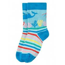 "Chaussettes ""Perfect Pair Socks, Motosu Blue / Sea"" - coton bio"