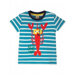 "T-shirt ""Sid Applique T-shirt, Motosu Blue Stripe"" - coton bio"